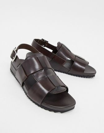 Open Toe Casual Style Leather Sandals Sandal