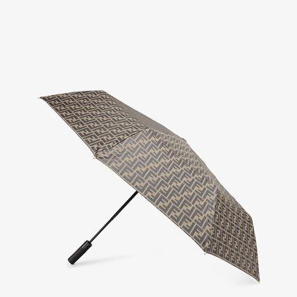 FENDI Monogram Unisex Bi-color Logo Umbrellas & Rain Goods