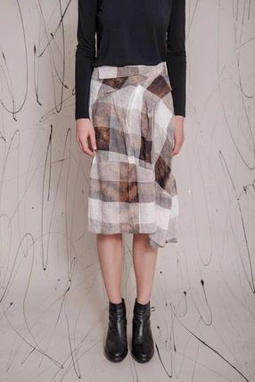 Pencil Skirts Other Plaid Patterns Zigzag Linen