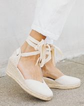 SOLUDOS Casual Style Plain Platform & Wedge Sandals