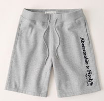 Abercrombie & Fitch Tapered Pants Printed Pants Logo Patterned Pants