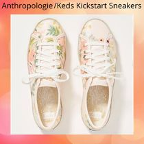 Anthropologie Flower Patterns Casual Style Low-Top Sneakers