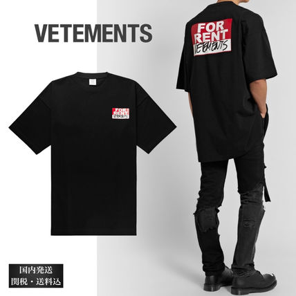 VETEMENTS More T-Shirts Street Style Cotton Short Sleeves Oversized Logo T-Shirts