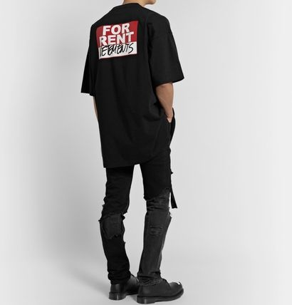 VETEMENTS More T-Shirts Street Style Cotton Short Sleeves Oversized Logo T-Shirts 3