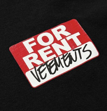 VETEMENTS More T-Shirts Street Style Cotton Short Sleeves Oversized Logo T-Shirts 4