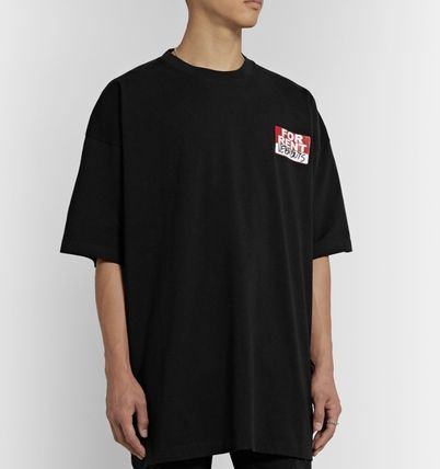 VETEMENTS More T-Shirts Street Style Cotton Short Sleeves Oversized Logo T-Shirts 5