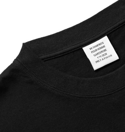 VETEMENTS More T-Shirts Street Style Cotton Short Sleeves Oversized Logo T-Shirts 7