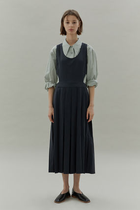 Casual Style Unisex Street Style Plain Long Party Style