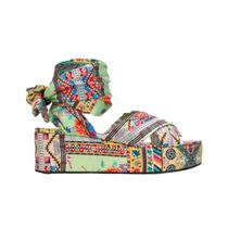ETRO Open Toe Platform Casual Style Leather Party Style