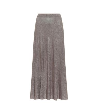 Casual Style Pleated Skirts Plain Medium Office Style