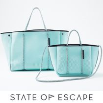 State of Escape Casual Style A4 2WAY Plain Crossbody Formal Style  Totes