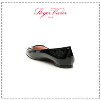 Roger Vivier Platform Round Toe Casual Style Plain Leather Party Style