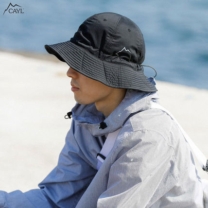 Unisex Street Style Bucket Hats Nylon Jacket