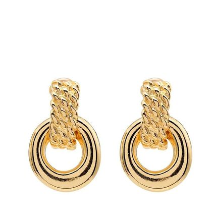 Brass Elegant Style Co-ord Earrings
