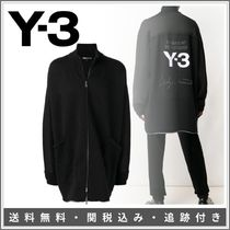 Y-3 Pullovers Monogram Unisex Street Style Plain Cotton