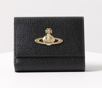Vivienne Westwood Unisex Plain Leather Bold Folding Wallet Logo