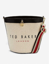 TED BAKER Casual Style Leather Logo Totes