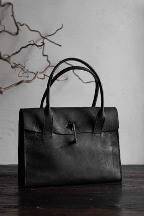 Unisex Street Style Plain Leather Handmade