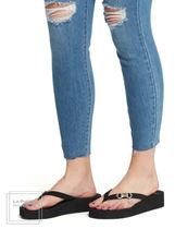 Guess Open Toe Platform Round Toe Casual Style Blended Fabrics