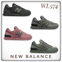 New Balance 574 Casual Style Unisex Oversized Logo Low-Top Sneakers