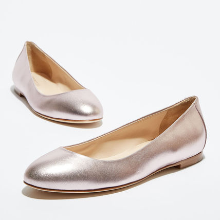 Plain Leather Ballet Shoes