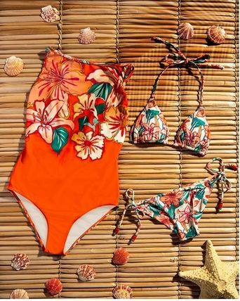 Flower Patterns Brazilian Swimwear