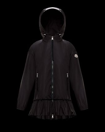 MONCLER SARCELLE Plain Medium Nylon Jacket  Logo Jackets
