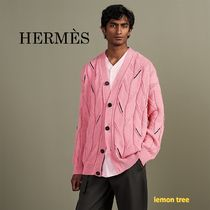 HERMES Cashmere Cotton Luxury Cardigans