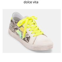 dolce vita Casual Style Other Animal Patterns Leather Low-Top Sneakers
