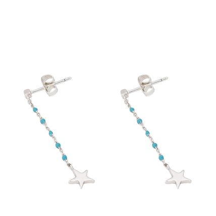 Star Chain With Jewels Earrings