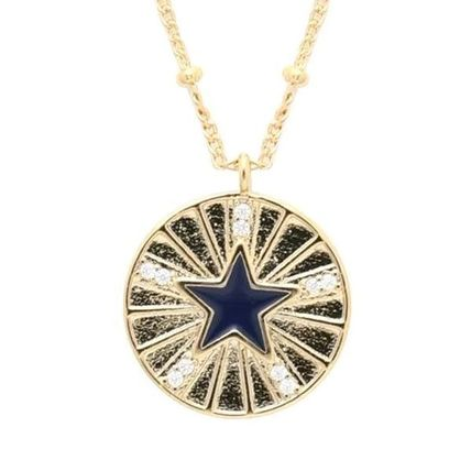 Star Unisex Chain With Jewels Necklaces & Pendants