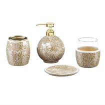 MADISON PARK More Décor With Jewels Glitter Co-ord Metallic Décor 8