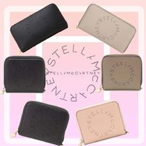 Stella McCartney STELLA LOGO Unisex Street Style Leather Folding Wallet Long Wallet