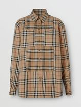 Burberry Casual Style Long Sleeves Cotton Shirts & Blouses