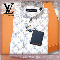Louis Vuitton MONOGRAM Monogram Street Style Long Sleeves Cotton Bridal Logo Luxury