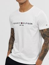 Tommy Hilfiger Crew Neck Cotton Short Sleeves Logos on the Sleeves Logo