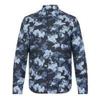Louis Vuitton Camouflage Silk Long Sleeves Shirts