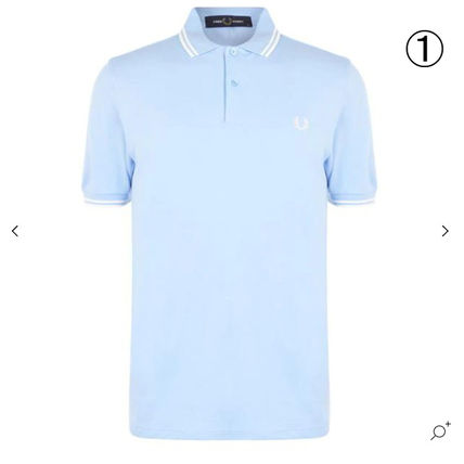 Pullovers Street Style Cotton Short Sleeves Logo Polos