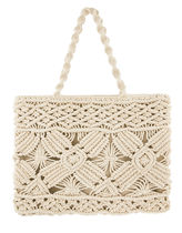 Accessorize A4 Plain Metallic Straw Bags