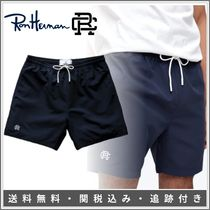 Ron Herman Monogram Street Style Plain Cotton Handmade Logo Shorts