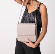 hoze 2WAY Plain Leather Crossbody Shoulder Bags