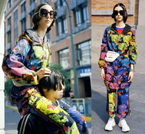 GUCCI Casual Style Street Style Other Animal Patterns Long