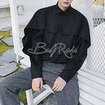 Shirts Street Style Long Sleeves Plain Oversized Shirts 4