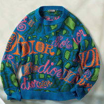 Christian Dior Cashmere Street Style Long Sleeves Logo Sweaters