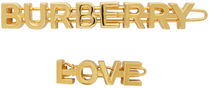 Burberry Barettes Casual Style Brass Clips