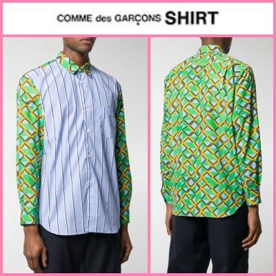 COMME des GARCONS Shirts Button-down Stripes Other Plaid Patterns Street Style