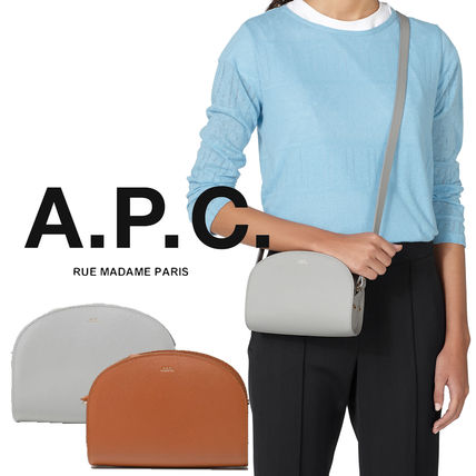 Casual Style Unisex Street Style Vanity Bags Plain Leather