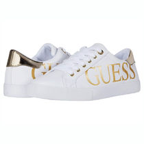 Guess Round Toe Casual Style Logo Metallic Low-Top Sneakers