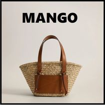 MANGO Blended Fabrics 2WAY Straw Bags