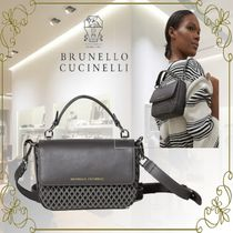 BRUNELLO CUCINELLI Casual Style 3WAY Plain Leather Party Style Elegant Style